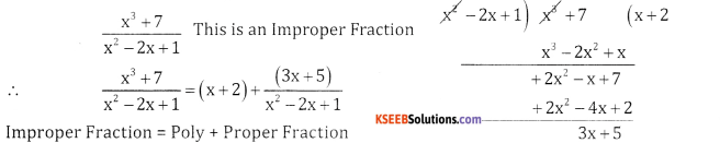 2nd PUC Basic Maths Question Bank Chapter 5 Partial Fractions Ex 5.1 - 8