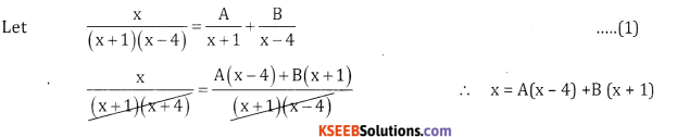2nd PUC Basic Maths Question Bank Chapter 5 Partial Fractions Ex 5.2 - 1