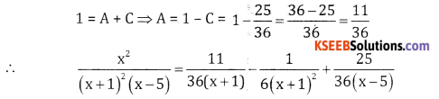2nd PUC Basic Maths Question Bank Chapter 5 Partial Fractions Ex 5.2 - 18