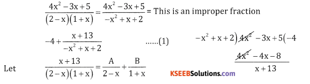 2nd PUC Basic Maths Question Bank Chapter 5 Partial Fractions Ex 5.2 - 25
