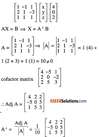 2nd PUC Maths Question Bank Chapter 4 Determinants Ex 4.6.19