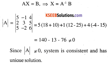 2nd PUC Maths Question Bank Chapter 4 Determinants Ex 4.6.9
