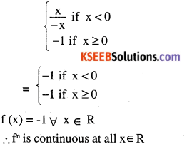 2nd PUC Maths Question Bank Chapter 5 Continuity and Differentiability Ex 5.1.13