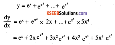 2nd PUC Maths Question Bank Chapter 5 Continuity and Differentiability Ex 5.4.7