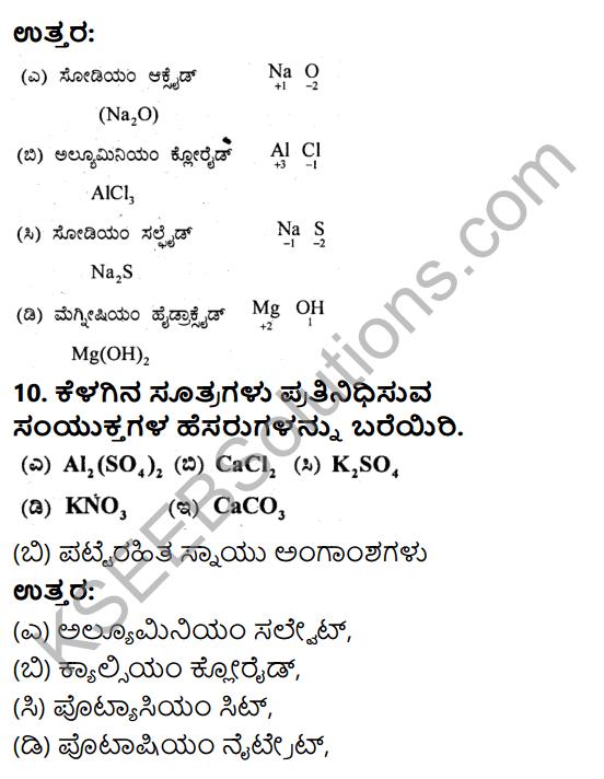 KSEEB Solutions for Class 9 Science Chapter 3 Paramanugalu Mattu Anugalu 4