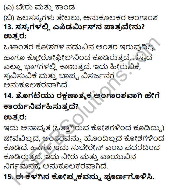 KSEEB Solutions for Class 9 Science Chapter 6 Amgansagalu 10