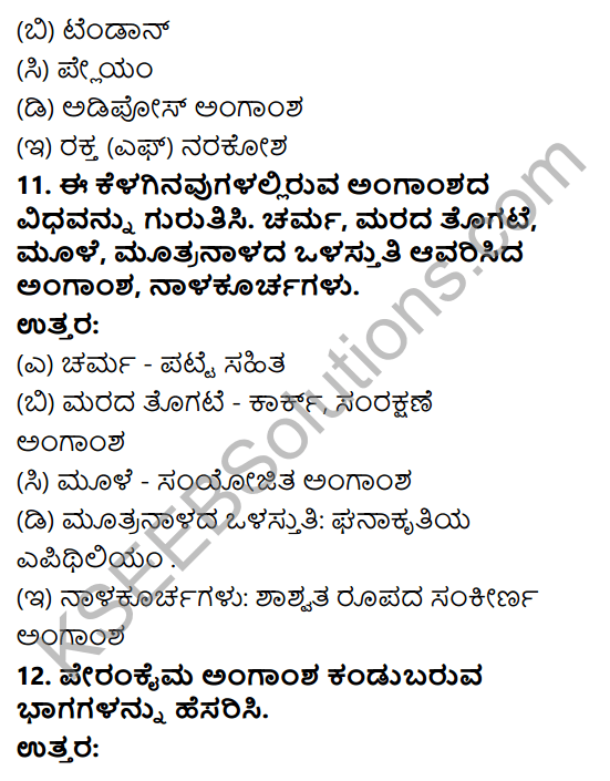 KSEEB Solutions for Class 9 Science Chapter 6 Amgansagalu 9