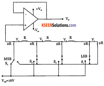 2nd PUC Electronics Question Bank Chapter 5 Operational Amplifiers(OP-Amp) 54