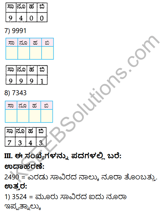 KSEEB Solutions for Class 4 Maths Chapter 2 Numbers in Kannada 4