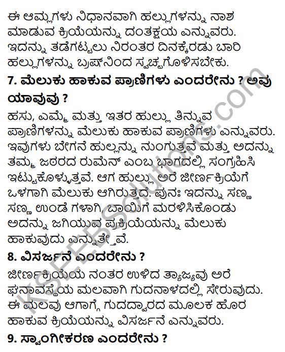KSEEB Solutions for Class 7 Science Chapter 2 Pranigalalli Poshane 11