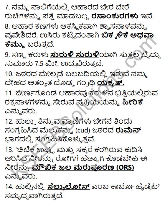 KSEEB Solutions for Class 7 Science Chapter 2 Pranigalalli Poshane 17