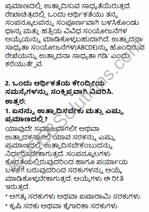2nd PUC Economics Question Bank Chapter 1 Introduction to Micro Economics in Kannada 11