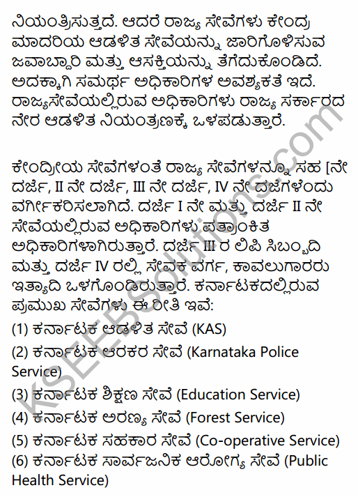2nd PUC Political Science Question Bank Chapter 3 Administrative Machinery in India in Kannada 33