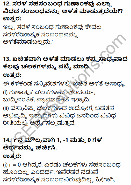 1st PUC Economics Question Bank Chapter 7 Correlation in Kannada 7