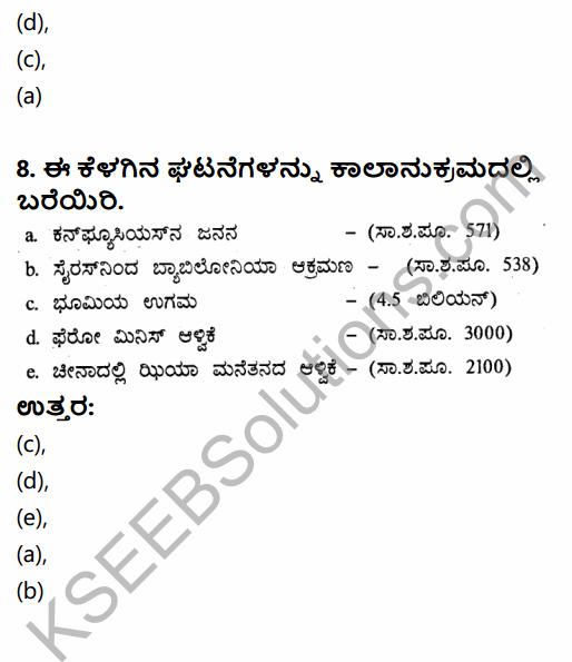 1st PUC History Question Bank Chapter 3 History of Ancient Civilization in Kannada 75