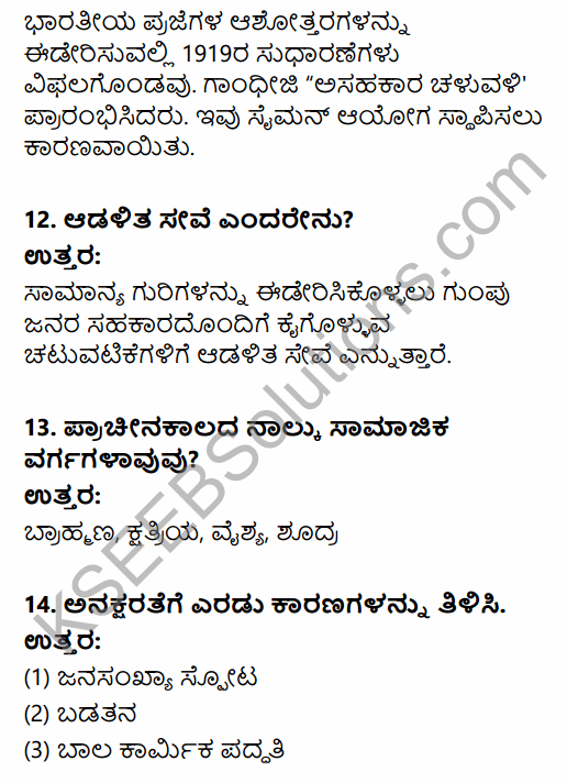 2nd PUC Political Science Previous Year Question Paper March 2015 in Kannada 4