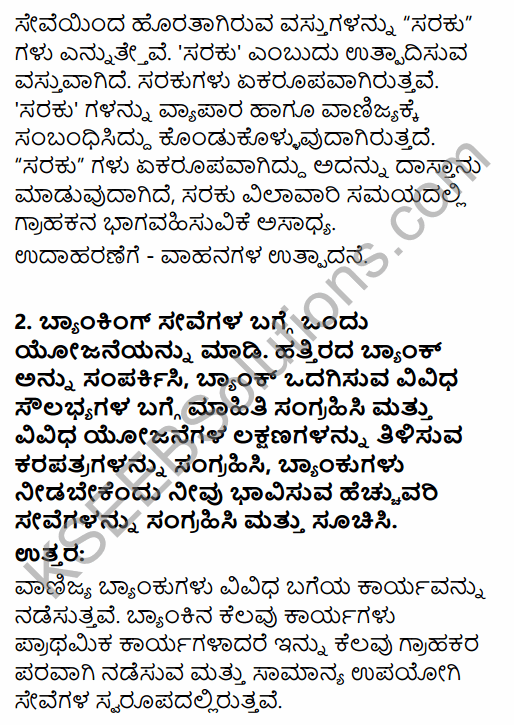 1st PUC Business Studies Question Bank Chapter 4 Business Services in Kannada 33