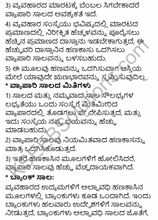 1st PUC Business Studies Question Bank Chapter 8 Sources of Business Finance in Kannada 17