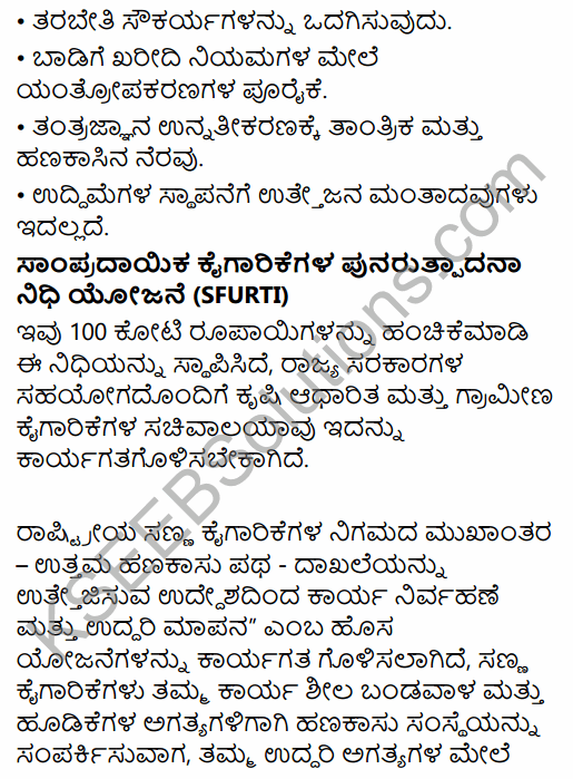 1st PUC Business Studies Question Bank Chapter 9 Small Business in Kannada 28