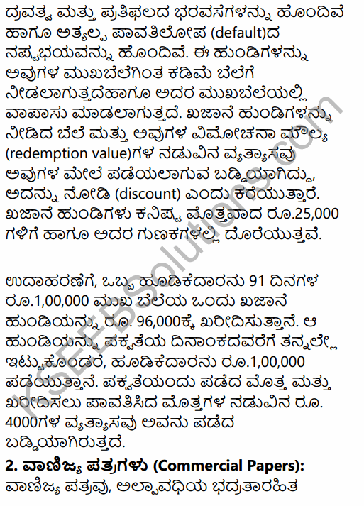 2nd PUC Business Studies Question Bank Chapter 10 Financial Market in Kannada 19