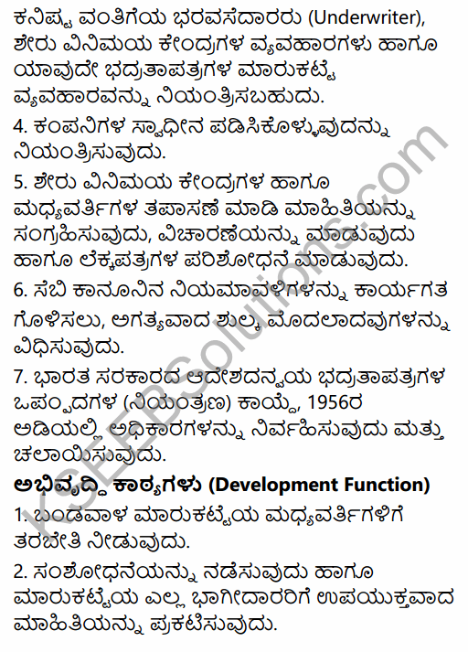 2nd PUC Business Studies Question Bank Chapter 10 Financial Market in Kannada 31