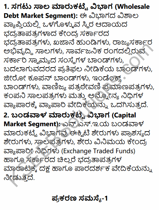 2nd PUC Business Studies Question Bank Chapter 10 Financial Market in Kannada 33