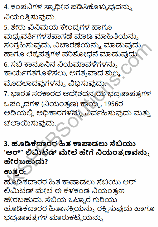 2nd PUC Business Studies Question Bank Chapter 10 Financial Market in Kannada 37