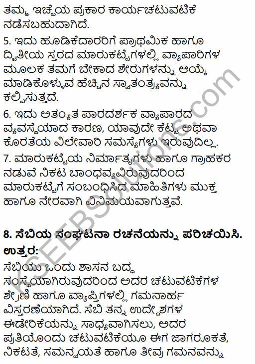2nd PUC Business Studies Question Bank Chapter 10 Financial Market in Kannada 51