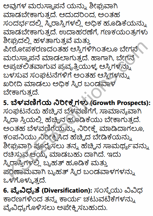 2nd PUC Business Studies Question Bank Chapter 9 Financial Management in Kannada 40