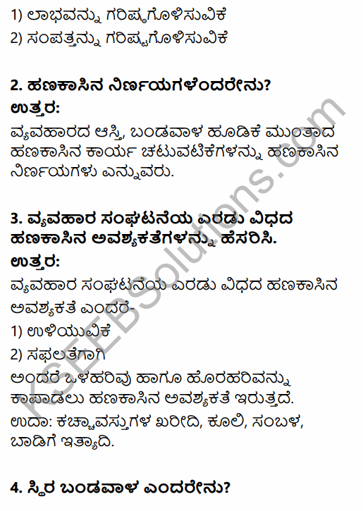 2nd PUC Business Studies Question Bank Chapter 9 Financial Management in Kannada 43
