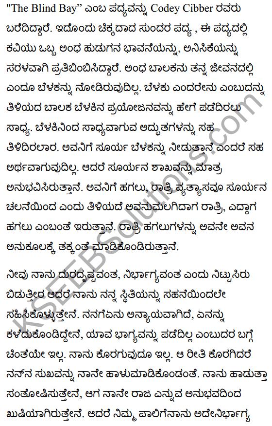 The Blind Boy Poem Summary in Kannada 1