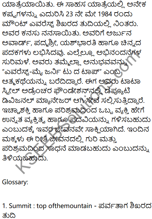 Journey to the Top Summary In Kannada 3
