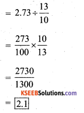 KSEEB Solutions for Class 7 Maths Chapter 2 Fractions and Decimals Ex 2.7 340