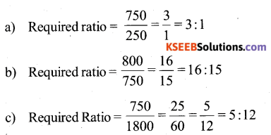 KSEEB Solutions for Class 6 Maths Chapter 12 Ratio and Proportion Ex 12.1 67