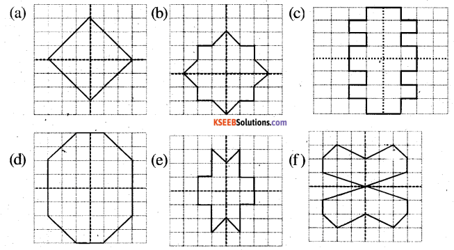 KSEEB Solutions for Class 6 Maths Chapter 13 Symmetry Ex 13.3 4