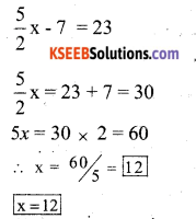 KSEEB Solutions for Class 7 Maths Chapter 4 Simple Equations Ex 4.4 7
