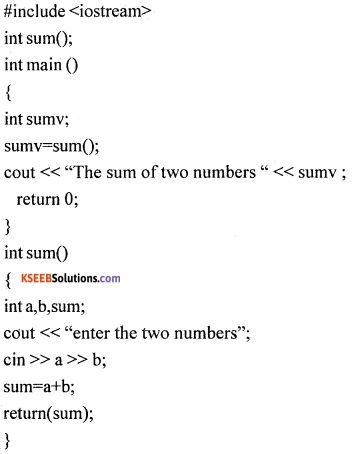 1st PUC Computer Science Question Bank Chapter 13 User Defined Functions 5