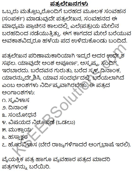 1st PUC Kannada Workbook Answers Patra Lekhana image - 1
