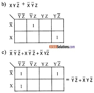 2nd PUC Computer Science Boolean Algebra Two Marks Questions and Answers 34