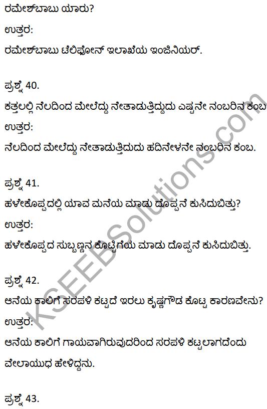2nd PUC Kannada Textbook Answers Sahitya Sampada Chapter 21 Krishna Gowdana Aane 11