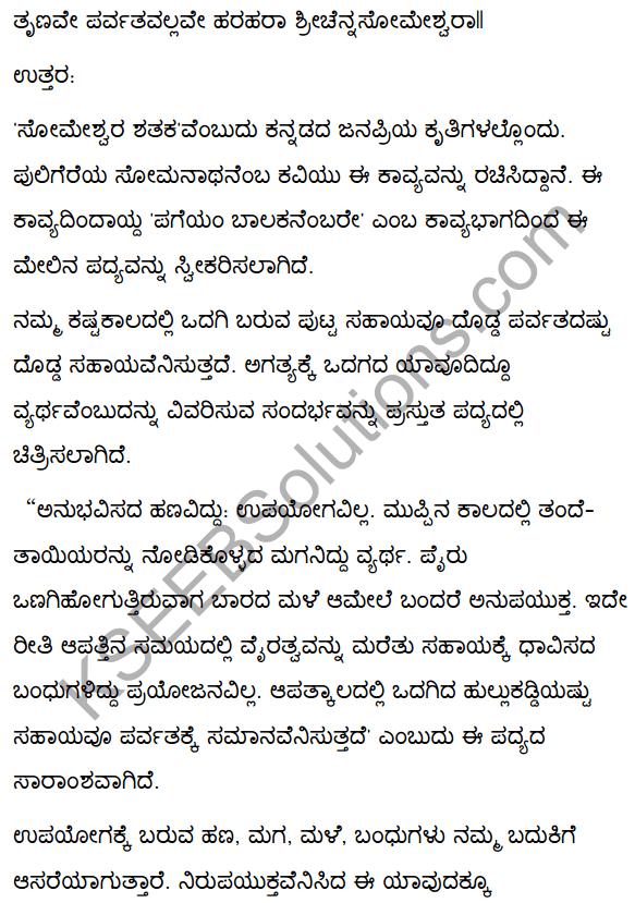 2nd PUC Kannada Textbook Answers Sahitya Sampada Chapter 4 Pageyam Balakanembare 27