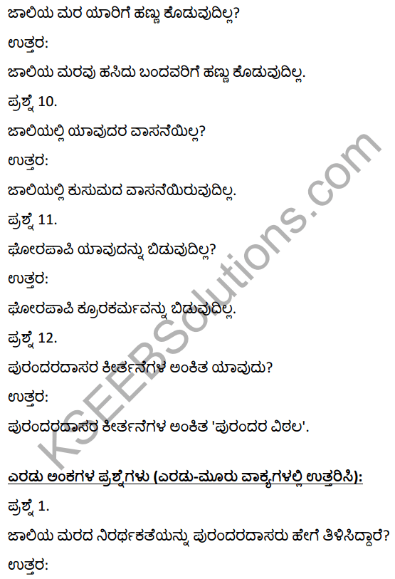 2nd PUC Kannada Textbook Answers Sahitya Sampada Chapter 5 Jaliya Maradante 7