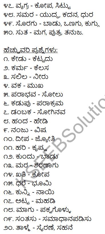 2nd PUC Kannada Workbook Answers Chapter 2 Samanarthaka Galu 3