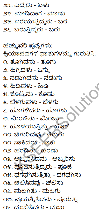 Chapter 8 Kriya Padagalu, Dhatu, Kala Suchaka Galu, Nishedharthaka Rupa 2