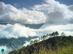Marvelous display of clouds as seen along the trail en route to Mt. Buga campsite. Part of Kibungan Crosscountry traverse.