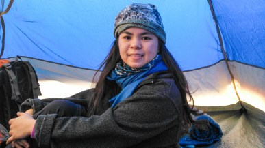 It's really cold in the campsite! I remember covering myself with garbage bag just to keep warm.