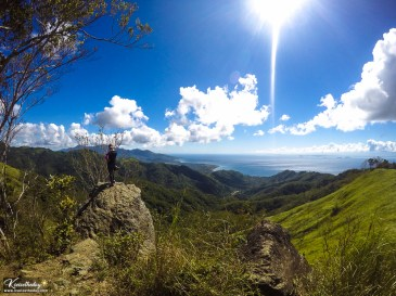 At the rocky viewpoint of Mt. Tibig.