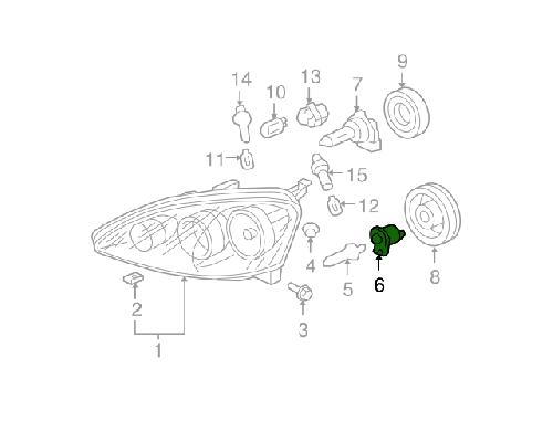 honda 02 06 rsx headlight bulb adapter