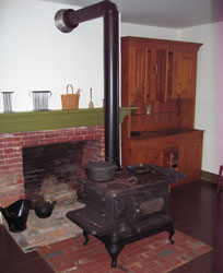 Wood stove at Grinter Place State Historic Site, Kansas City