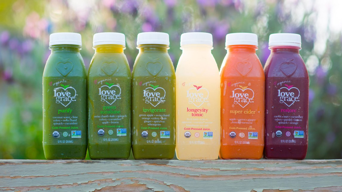 Love Grace juice labels